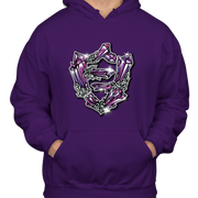 FlatFace Crystal Hoodie - Purple - XXL