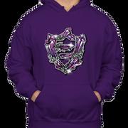 FlatFace Crystal Hoodie - Purple - L