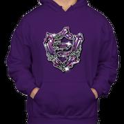 FlatFace Crystal Hoodie - Purple - S