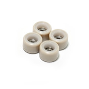 FlatFace Dual Durometer Bearing Wheels - White/Tan