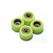 FlatFace x Oak Dual Durometer Bearing Wheels - Gold/Acid Green