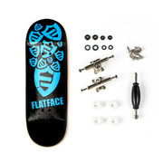 Berlinwood Complete - FlatFace Cyan - 32mm Wide Low Concave - Bollie Setup