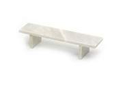 Blem - Flatface White Marble Bench