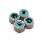 FlatFace Dual Durometer Bearing Wheels - Turquoise/Tan