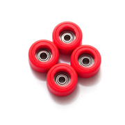FlatFace Dual Durometer Bearing Wheels - Red/Red