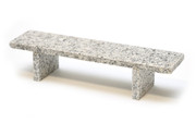 Memorial Day Sale - Flatface Grey Granite Bench