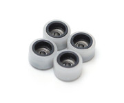 FlatFace Dual Durometer Bearing Wheels - Black/White