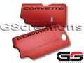 1999-2004 C5 Corvette Z06 Style Fuel Rail Covers, Driver's Side (Red)