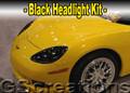 C6 Corvette Black Headlight Kit
