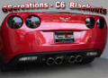 C6 & Z06 Corvette Rear Blackout Kit (4 piece kit)