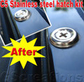 C5 Corvette STAINLESS STEEL Hatch Screw Kit