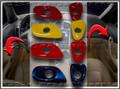 C6 Corvette Interior Colored Door Release Bezel Kit