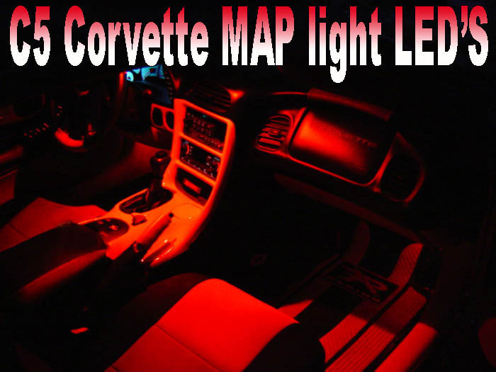 C5 Corvette Rear View Mirror Map Led Lights Gscreations
