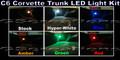 C6 CORVETTE LED TRUNK LIGHT KIT