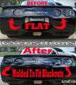 1997-2004 C5 Corvette MOLDED rear blackout kit