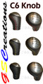 F-Body Leather Shift knob Smooth Top With RED, BLUE , YELLOW or BLACK Stitching