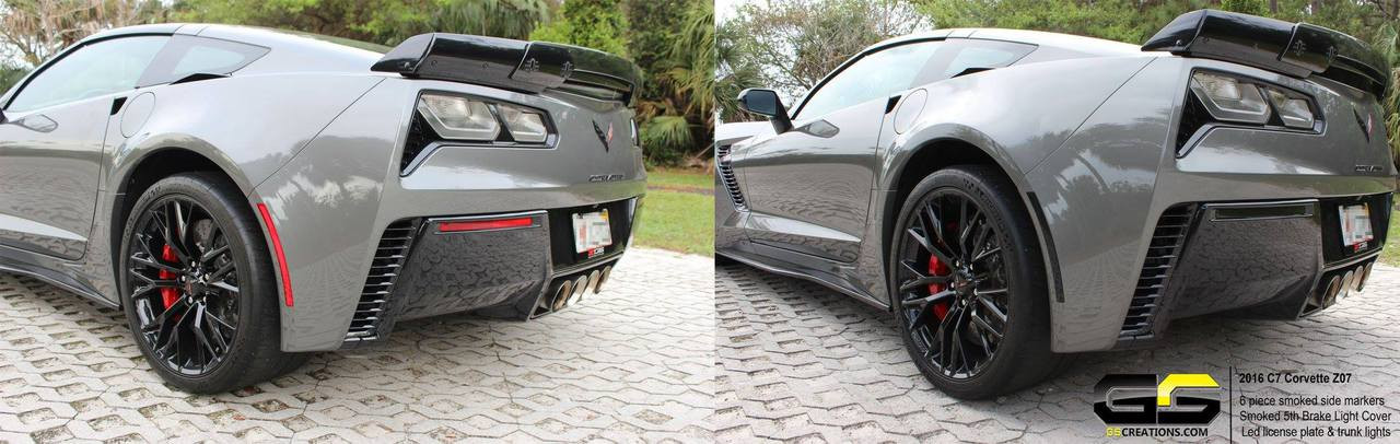 C7 Stingray Corvette Clear Or Smoked Side Rear Bumper Markers 6 Piece Kit