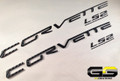 C6 Corvette LS2 Fuel Rail Cover Letter Insert Kit 3m CARBON FIBER Di-noc