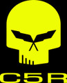 C5 Corvette Jake Racing Skull Vinyl Decal Stickers