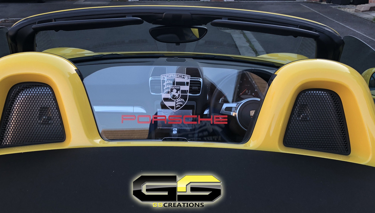 Porsche Boxster Boxster S 981 Windscreen Etched Glass Decal