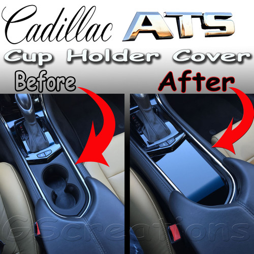 Cadillac ATS Front Cup Holder Cover - GScreations