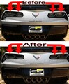 C7 Corvette Rear REVERSE / Turn Signal Lights ONLY Blackout lens Kit (Smoked Covers)