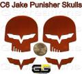 C6 Corvette Racing Jake Punisher Skull Emblem Custom Painted ALL Body Colors