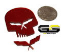 C5 Corvette Racing Jake Punisher Skull Emblem Custom Painted ALL Body Colors