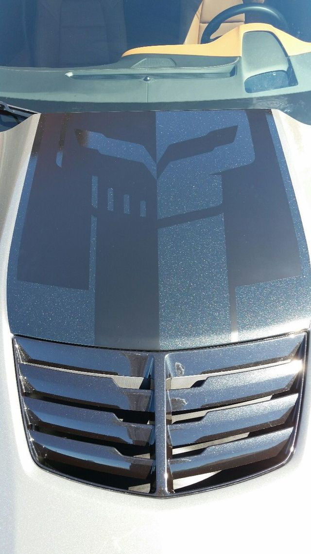 C7 Corvette Jake Logo Hood Decal (One Piece, Two Tone Carbon Flash, Z06 Hood Only) - GScreations