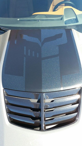 C7 Corvette Jake Logo Hood Decal One Piece Two Tone