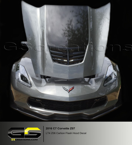 C7 Corvette Hood Decal Carbon Flash Lt4 Z06 Hood Only