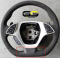 C7 Stingray Z06 Grand Sport Corvette Carbon Fiber Steering Wheel Bottom Cover