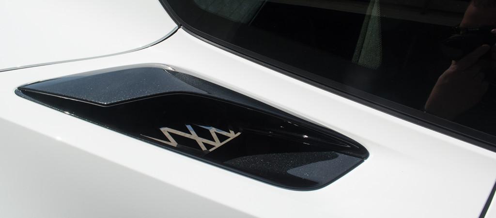 2014-2016 C7 Z06 Corvette - Rear Quarter Vent Grille Overlay Expanded  Diamond Pattern