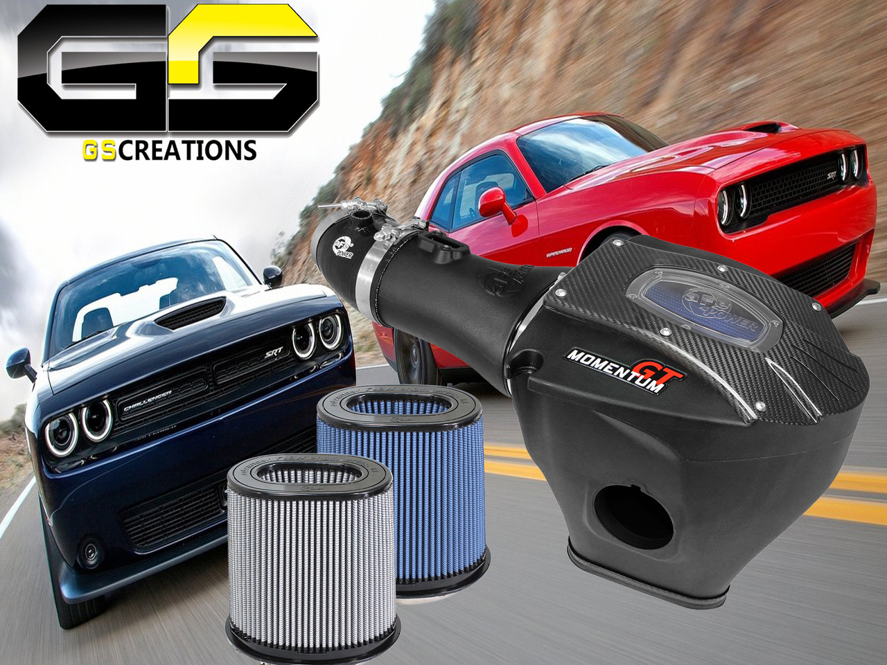 Dodge Challenger Charger Srt Hellcat Afe Cold Air Intake System W C7 Corvette Painted Fuse Box Cover Image 1