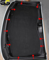 C7 Stingray Coupe , Z06 ,Grand Sport Corvette Black Suede HeadLiner Panel