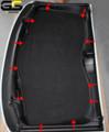 C7 Stingray Coupe , Z06 ,Grand Sport Corvette Black Suede HeadLiner Panel