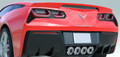 Corvette C7 Stingray Z06 Grand Sport Rear Diffuser Carbon Flash Fins