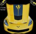 C7 Corvette Stingray Hood Vinyl Graphic Decal Stripe STINGRAY Style