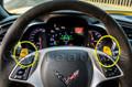 C7 Stingray Corvette Steering Wheel Paddles RED OR YELLOW