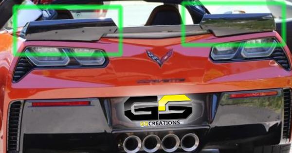 C7 Z06 Corvette Genuine GM Stage 2 Rear Spoiler Upgrade