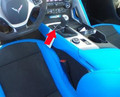 C7 Corvette 7spd Manual Suede Shift BOOT Tension Blue (Collector's Edition) Stitching