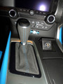 C7 Corvette Automatic Suede Shift boot & knob Tension Blue (Collector's Edition) Stitching