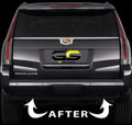2015 - 2018 Cadillac Escalade Rear Bumper Reflector Blackout Lens Cover Kit