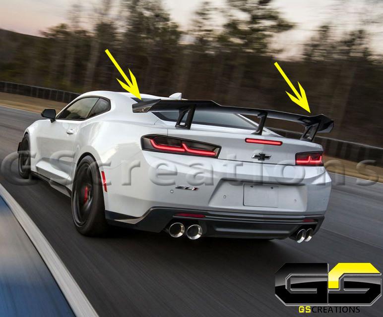 6Th Gen Camaro >> 6th Gen Camaro Ss Zl1 1le High Rise Carbon Fiber Or Satin Black Spoiler Gen 6