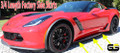 C7 Corvette Stingray Z06 Grand Sport 3/4 Length Side Skirt Kit OEM GM Skirts