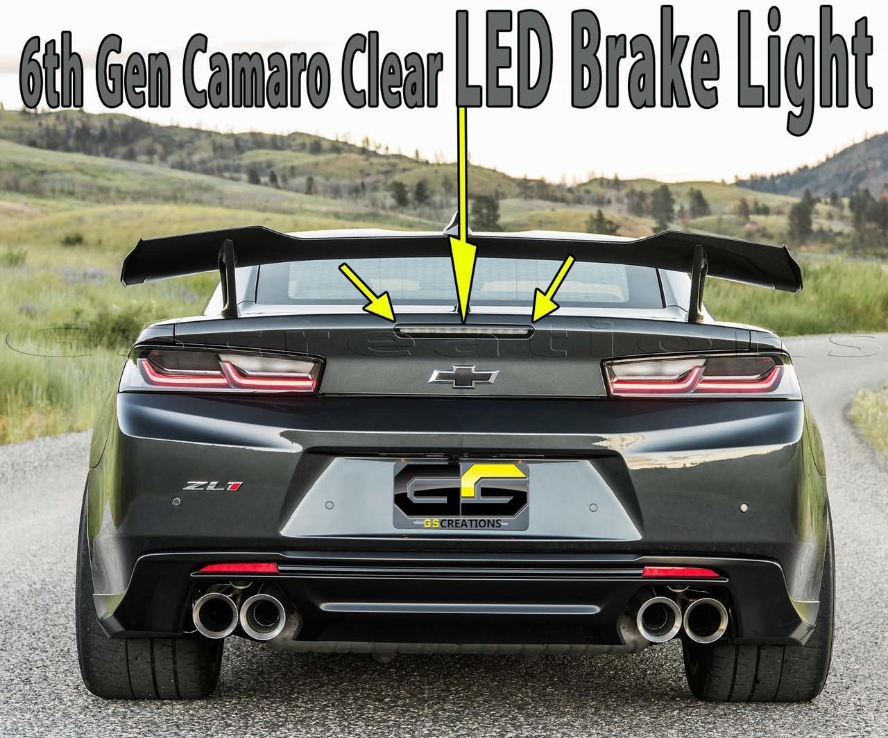 6Th Gen Camaro >> Zl1 1le 6th Gen Camaro Smoked Led Brake Light Gscreations