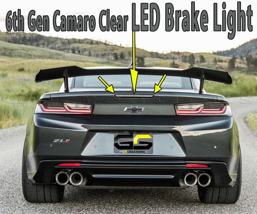 ZL1 1LE 6th GEN Camaro Smoked LED Brake Light - GScreations
