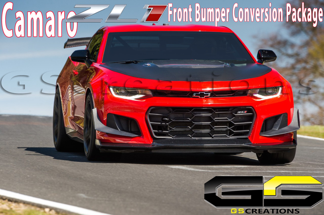 6th GEN 6 Camaro ZL1 1LE Front Bumper Conversion Package - GScreations