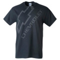 DISTRESSED CHEVY WITH BOWTIE Tee T-Shirt Black Cotton