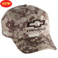 3-D CHEVROLET OPEN BOWTIE DIGITAL CAMO Base Ball CAP HAT